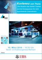 Berufs- und Ausbildungsmesse 2016 - Konferenz UBS